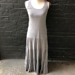 Cabi Grey Tiered Maxi Dress